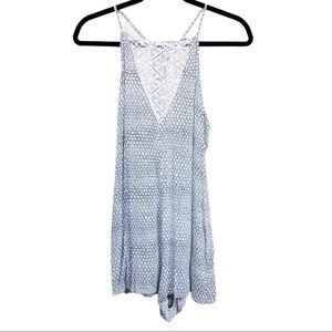 L*space swim cover up body suit romper tank small